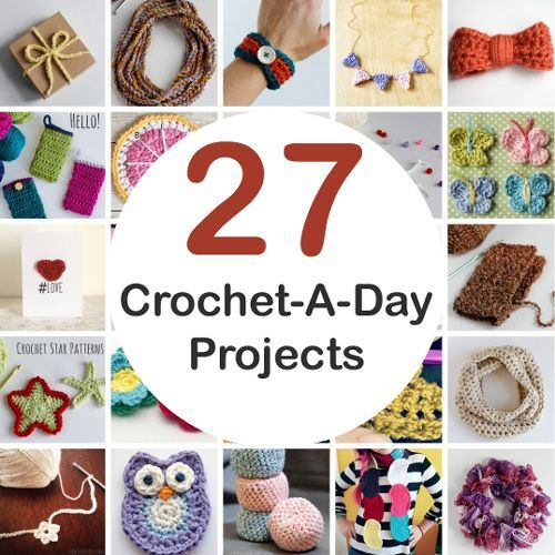 a37d3eca58e 27 Crochet-A-Day Crochet Patterns and Tutorials (Beautiful Skills ...