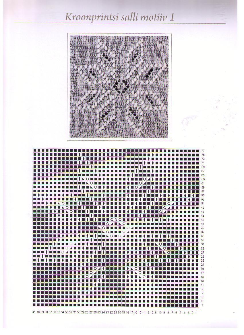 Хаапсалуская шаль схема