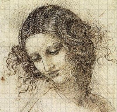 1190 Gridded  painting from the High Renaissance art for educational uses (studio, drawing and quizzes).