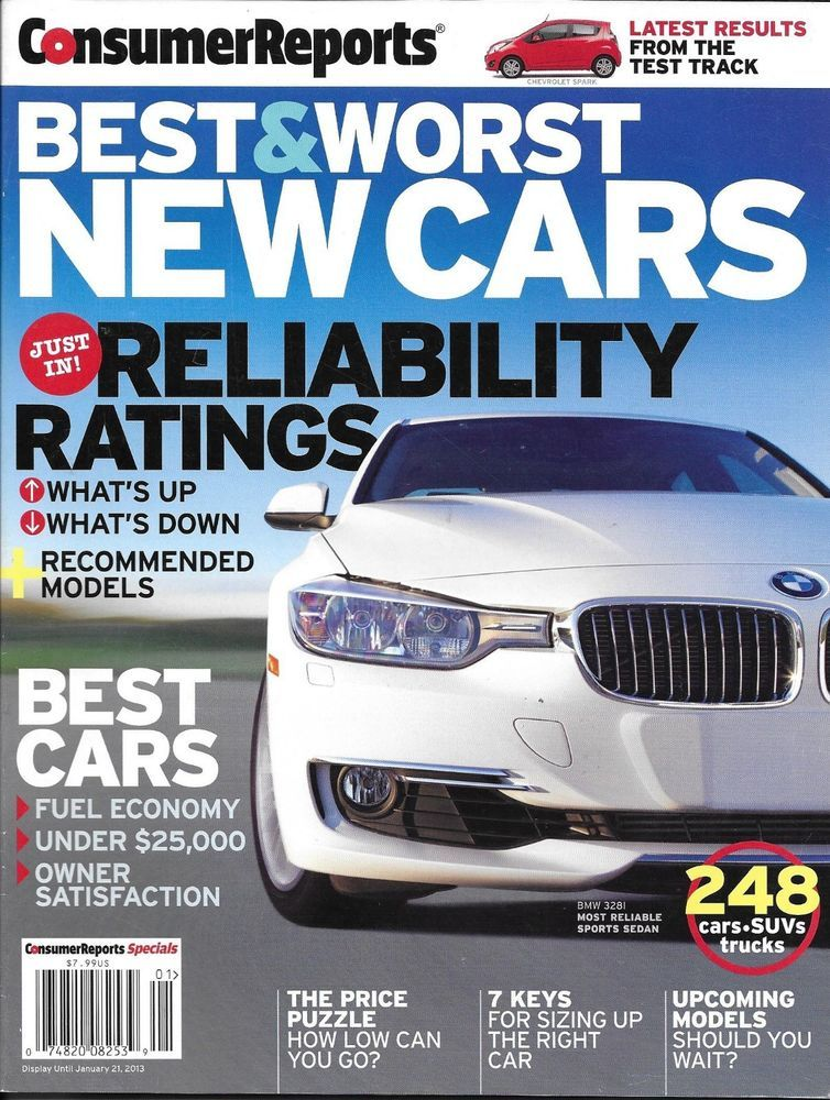 Consumer Reports magazine Best and worst cars Sedans SUV