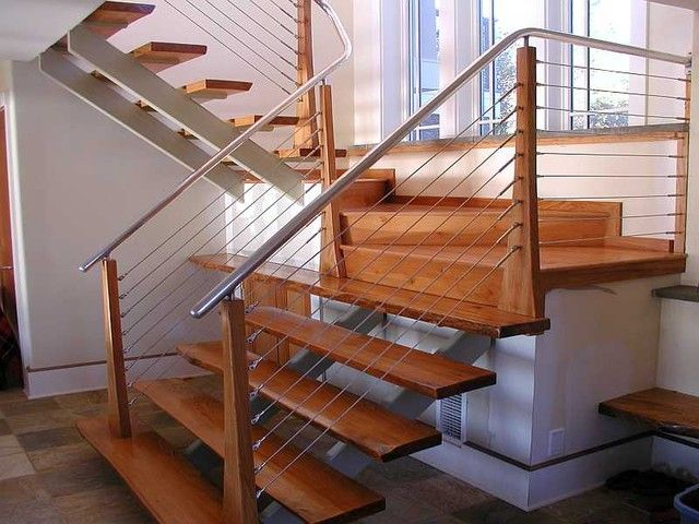 Contemporary Interior STAIR Railings | Furniture Design, The Modern Deesign  Of The Cable Stair Railing