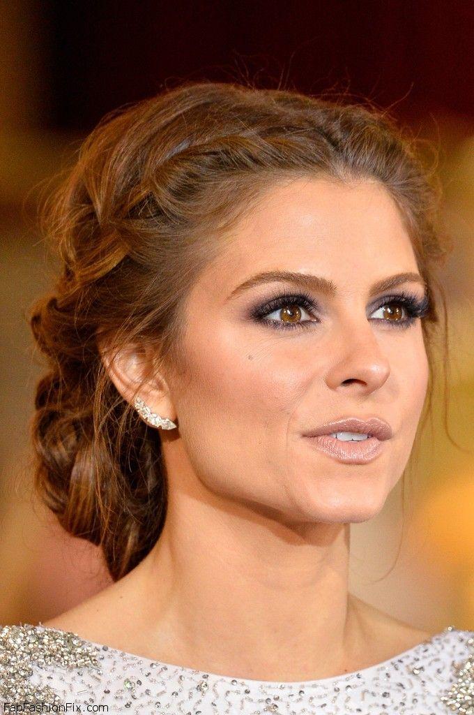 Red Carpet At Academy Awards Oscars 2014 Anna Hair Maria Menounos Hair Romantic Braided Hair