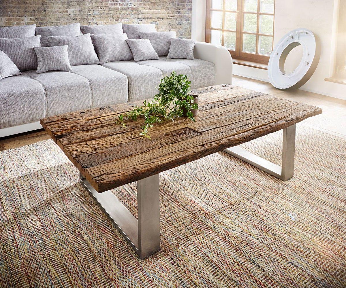 couchtisch yasimo 150x80cm braun antik design treibholz delife deluxe tables pinterest