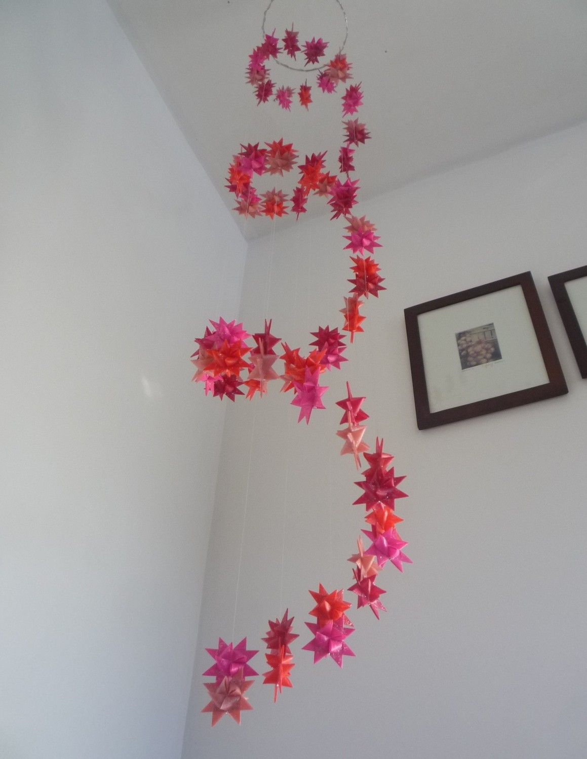 Spiral Hanging Origami Stars Baby Mobile -Custom Colors ... - photo#38