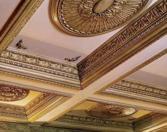 Crown Moulding Coiffered Ceilings And