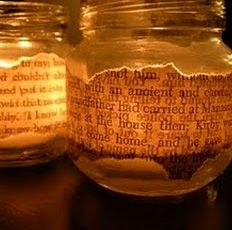 text on a candle