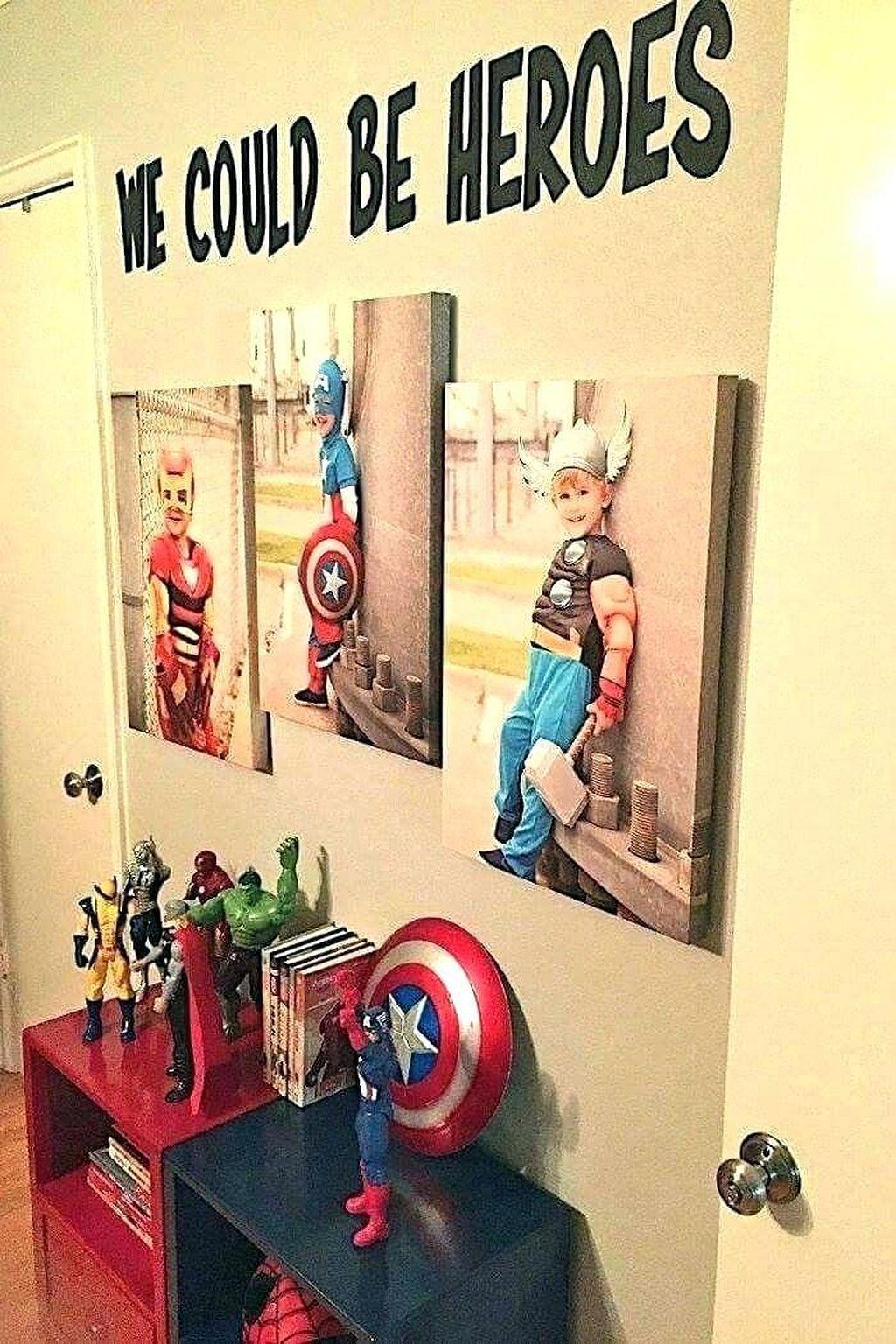 55 Cheerful Boys Bedroom Ideas Superhero Bedroom Avengers Room Decor Superhero Room Decor