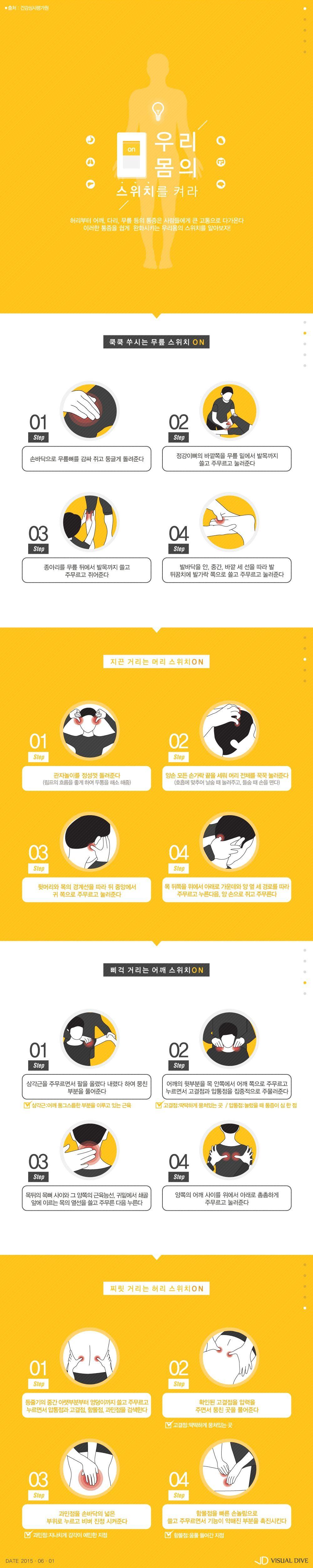 가족건강 업그레이드 시간…심사평가원, '안마타임' 위한 꿀팁 공개 [인포그래픽] #Health / #Infographic ⓒ 비주얼다이브 무단 복사·전재·재배포 금지
