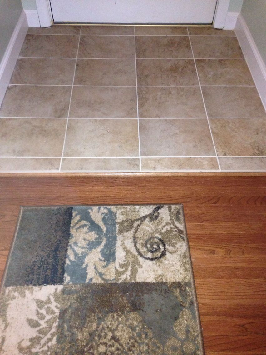 Completed Tiled Entry Way W Mesa Beige Tile And Biscuit Grout