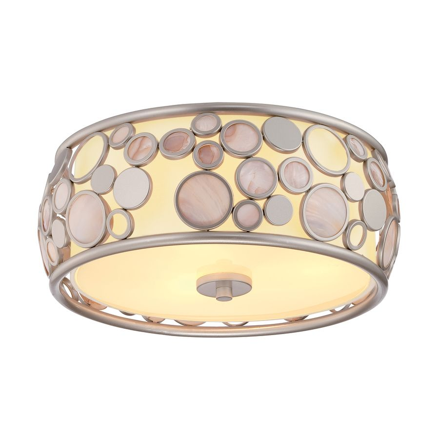 $108 CEILING LIGHTS LOWES Fairgate 14-in W Silver Ceiling