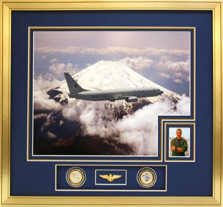 Custom made design for navy photos and pins complemented with high ...