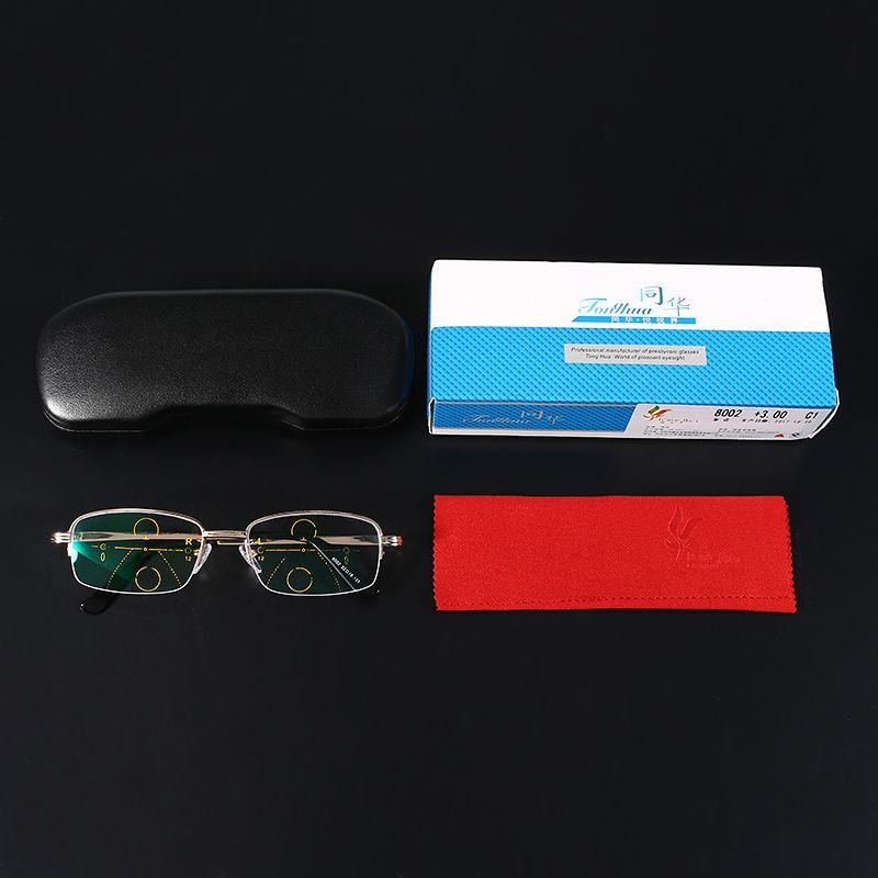 KCASA Intelligent Reading Glasses Progressive Multifocal Lens Presbyopia  Alloy Frame Anti Fatigue fd0be1df33ce