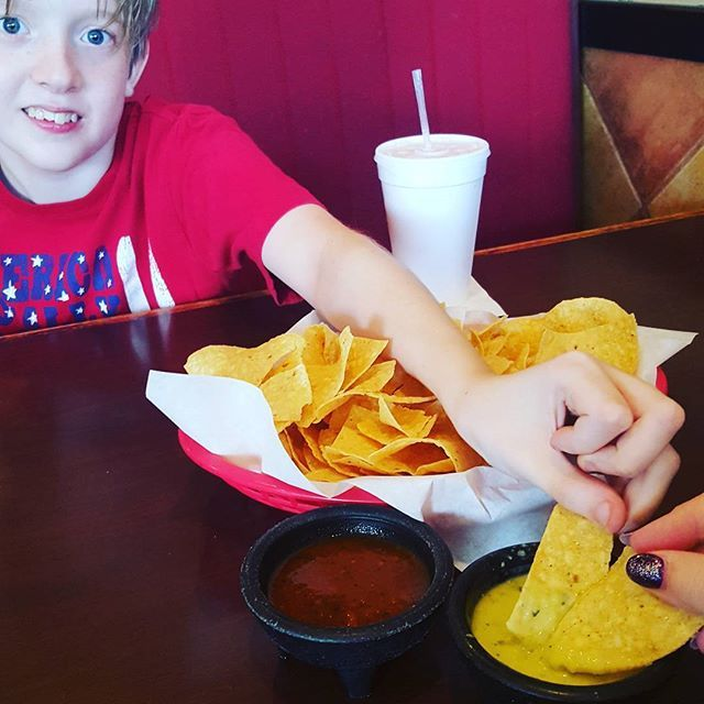 What's your #favorite treat? #Chips and #salsa are definitely my #love language!  Can you tell we were trying to make a #heart?? 😁❤ #TuesdayTreat  Yummery - best recipes. Follow Us! #foodporn