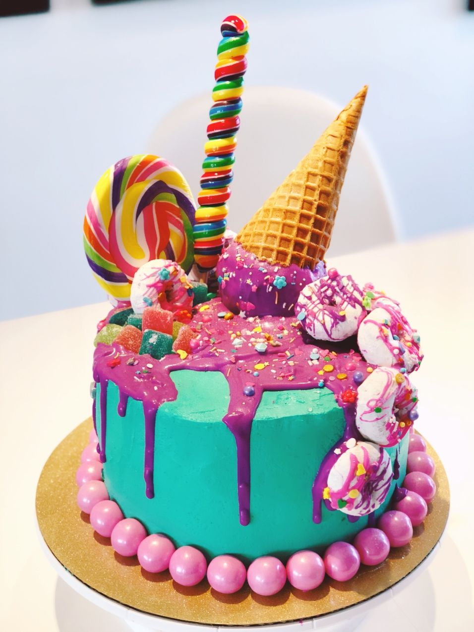 Stupendous My Fave Cake Ive Ever Made Melted Ice Cream Cone Candy Cake Personalised Birthday Cards Paralily Jamesorg