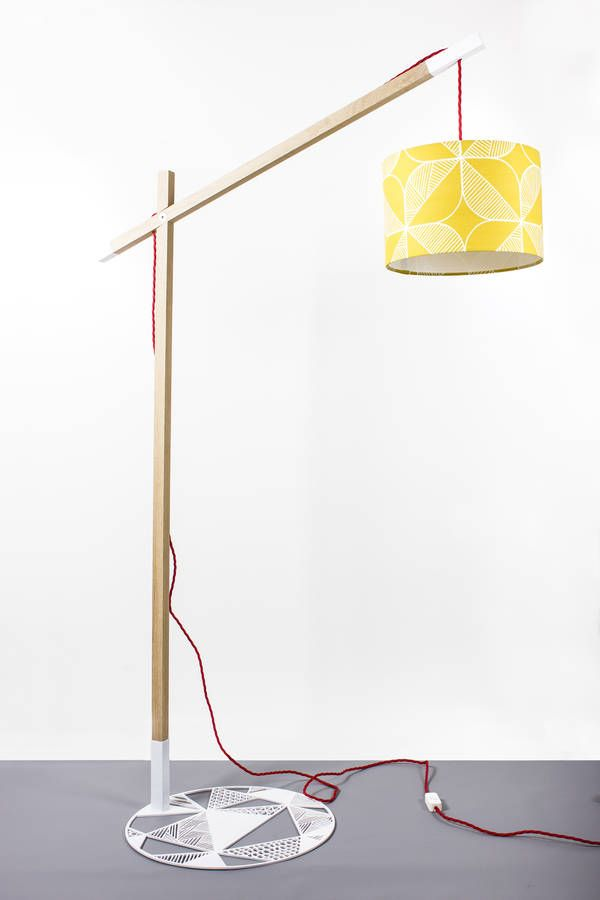 limited edition oak floor lamp stand by by kirsty | notonthehighstreet.com