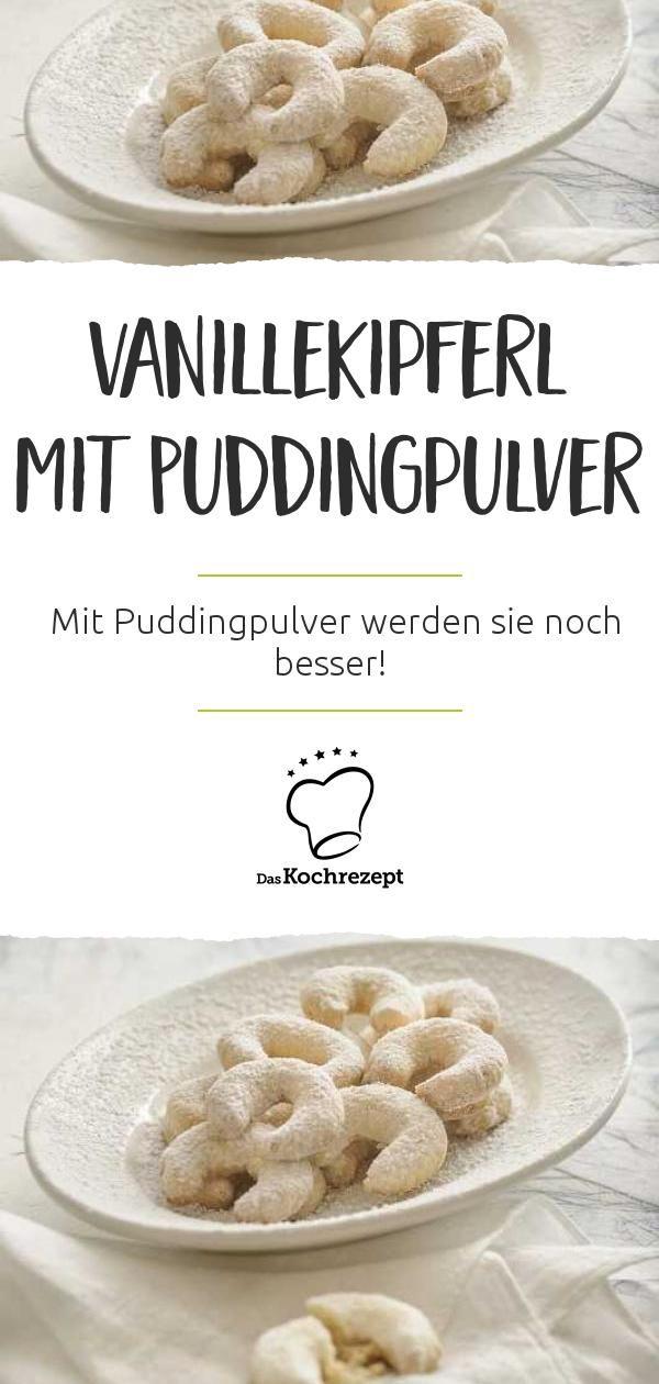 Vanillekipferl mit Puddingpulver #vanillekipferlrezept