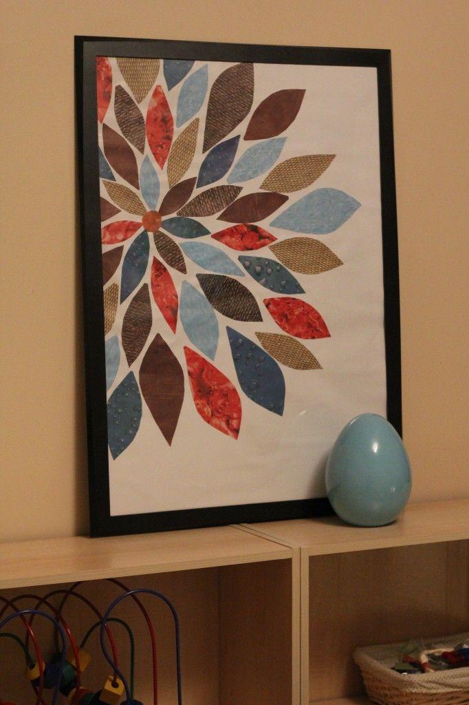 scrapbook paper wall art - Google Search | DIY & Crafts | Pinterest ...
