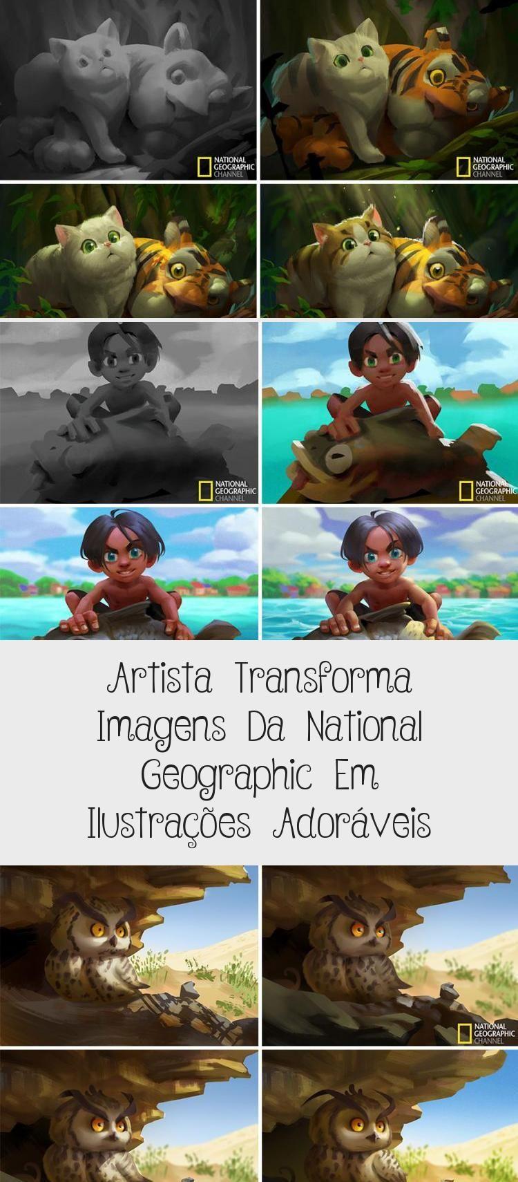 Artista transforma imagens da National Geographic em ilustrações adoráveis