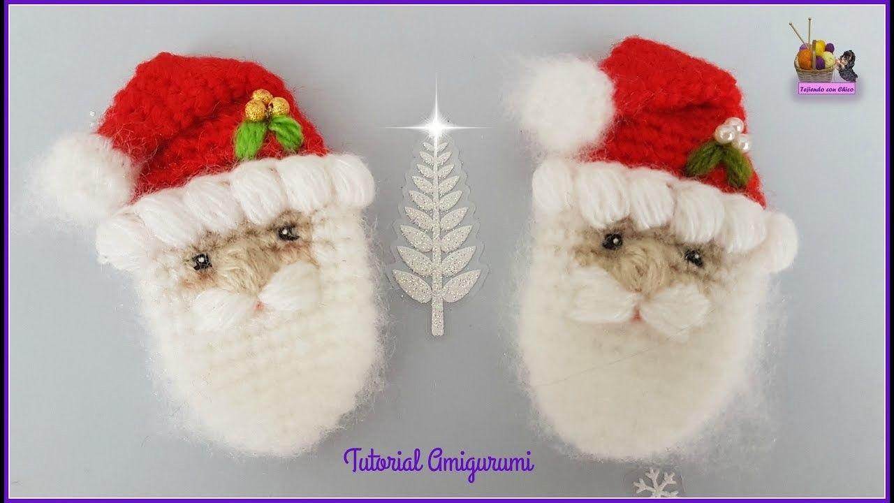 Broche Papá Noel. Santa Claus | Llaveros crochet, Navidad y Llaveros