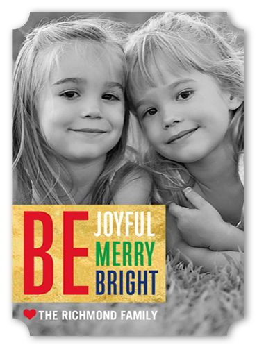 Just Be 5x7 Stationery Card by Poppy Studio Shutterfly Merry