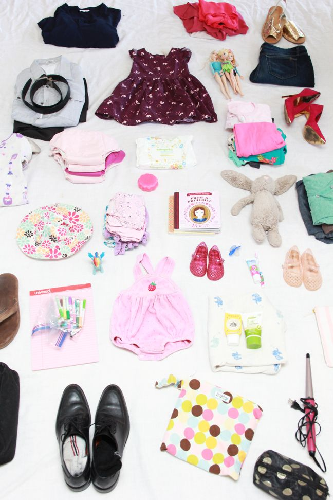 How to Pack a Family of Four in Two Carry-On Suitcases