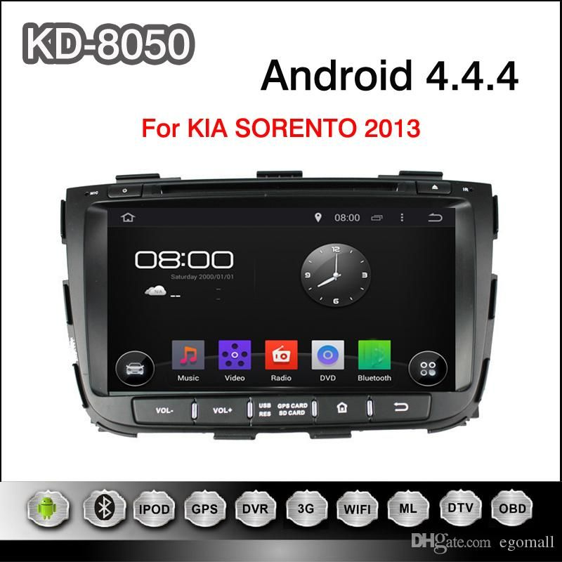 Android 4 4 4 Cortex A9 Dual Core 8 Capacitive Multi Touch Screen Car Dvd Player For Kia Sorento 2013 Online With 376 97 Piece On Egomall S Store Dhgate Com