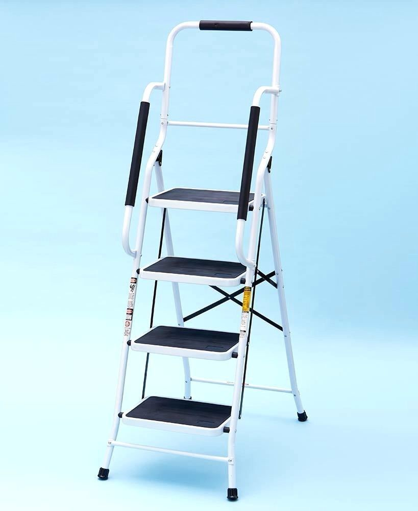 Best Folding Ladder With Hand Rails Sturdy 4 Non Skid Steps 5 400 x 300
