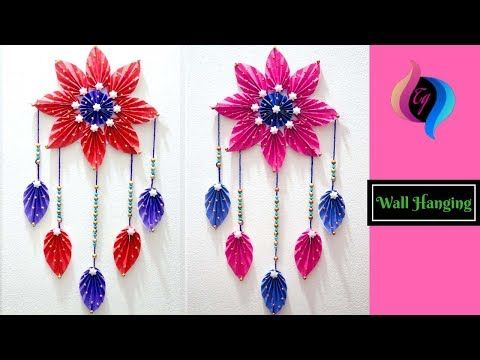 How To Make Easy Paper Wall Hanging Paper Wall Hanging Decorations