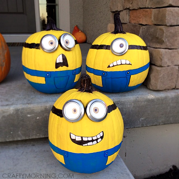 No Carve Minion Pumpkins Minion Pumpkin Decoration And