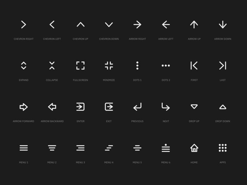 Super Basic Icons Navigation Set Icon Navigation Design Web Design