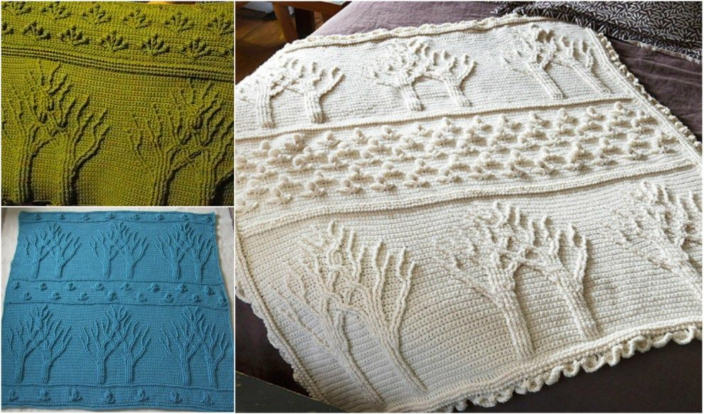 Easy] Stunning Tree of Life Afghan – Free Pattern | Afghans ...