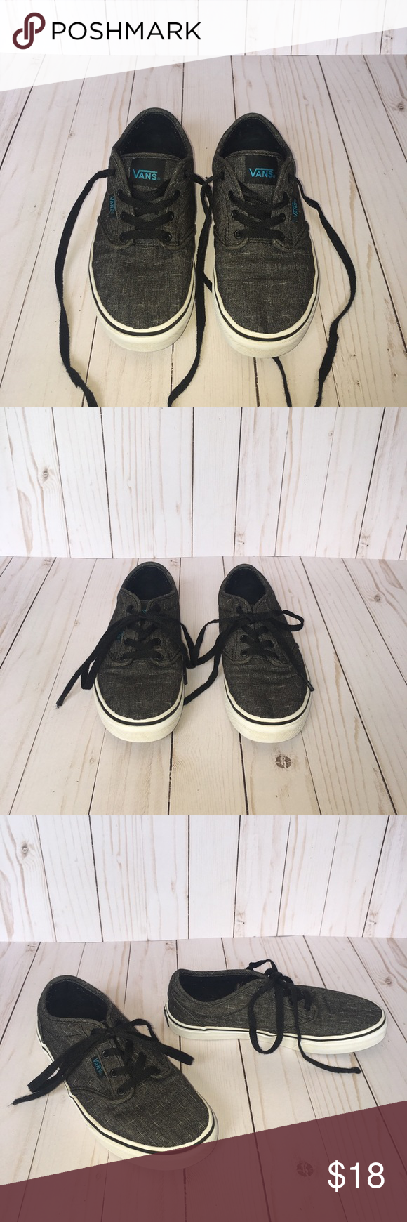Youth Size 4 Black Off The Wall Vans
