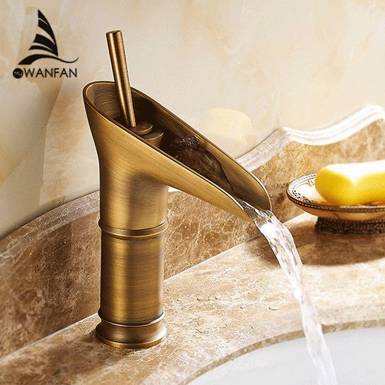 Free Shipping Contemporary Modern Open Spout Water Tap Bathroom ...