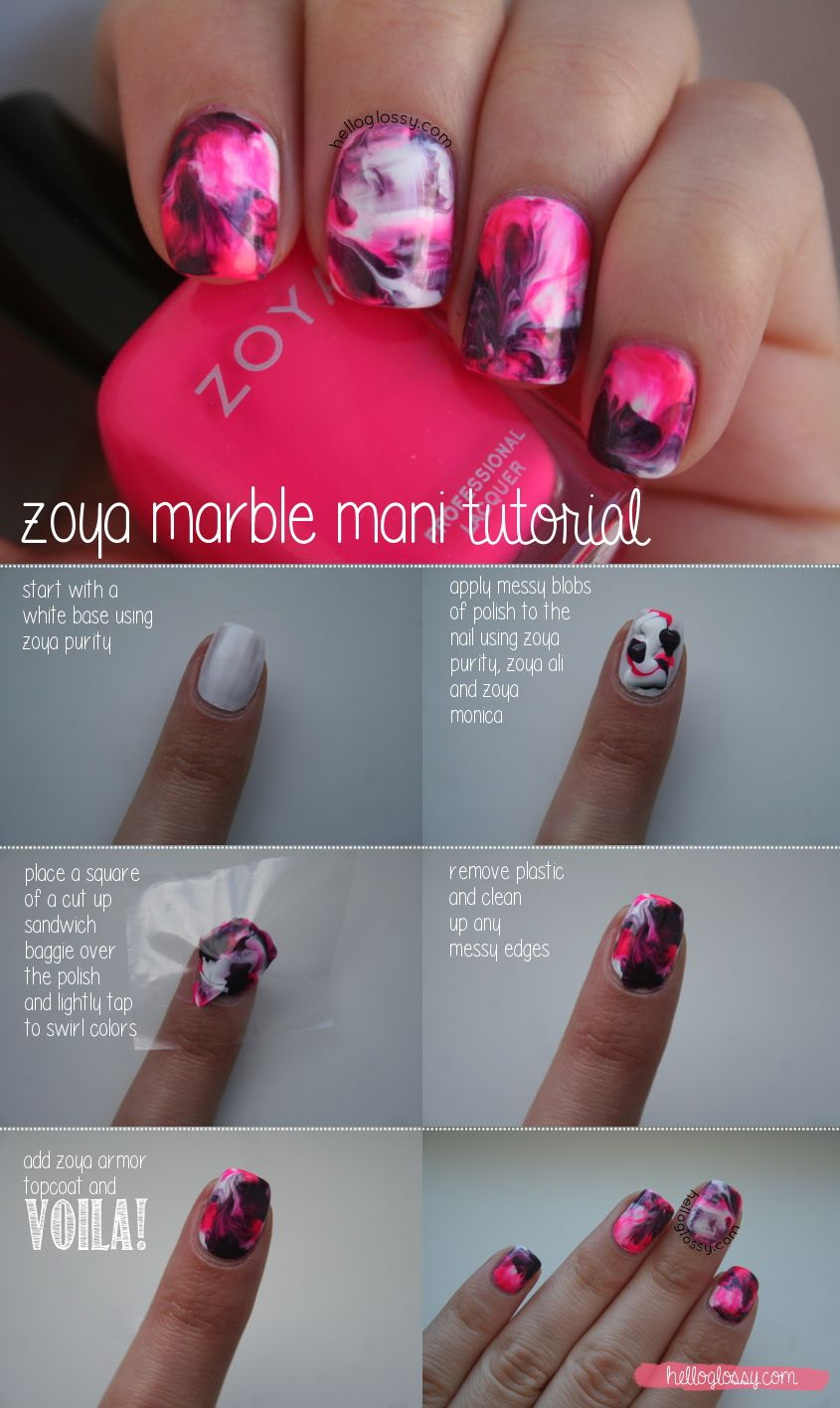 Super Easy Water Marble Mani See Howto Here Http