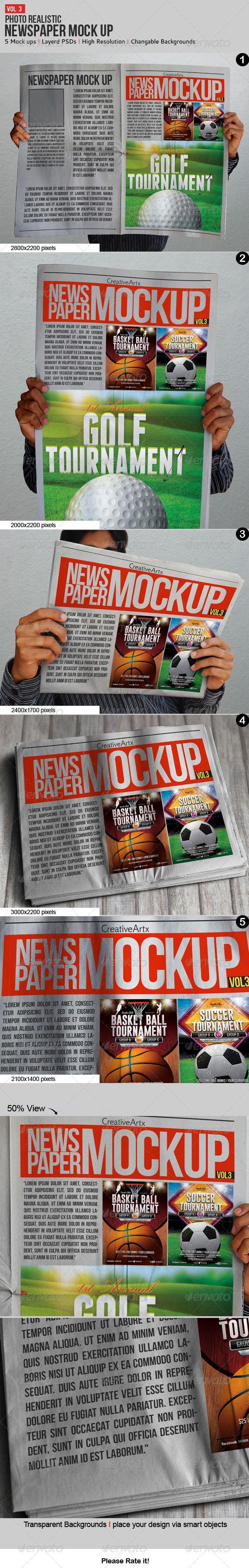 Download Newspaper Newsletter Mock Up V 3 Paper Presentation Mockup Paper Mockup