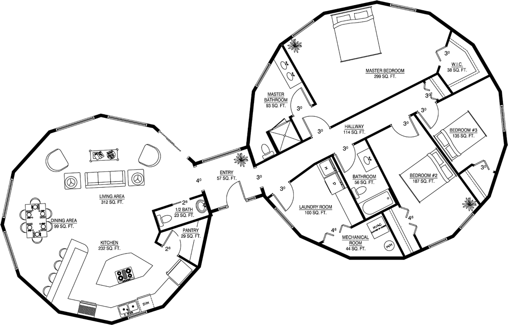 Custom Floor Plans Modern Homes Round Homes