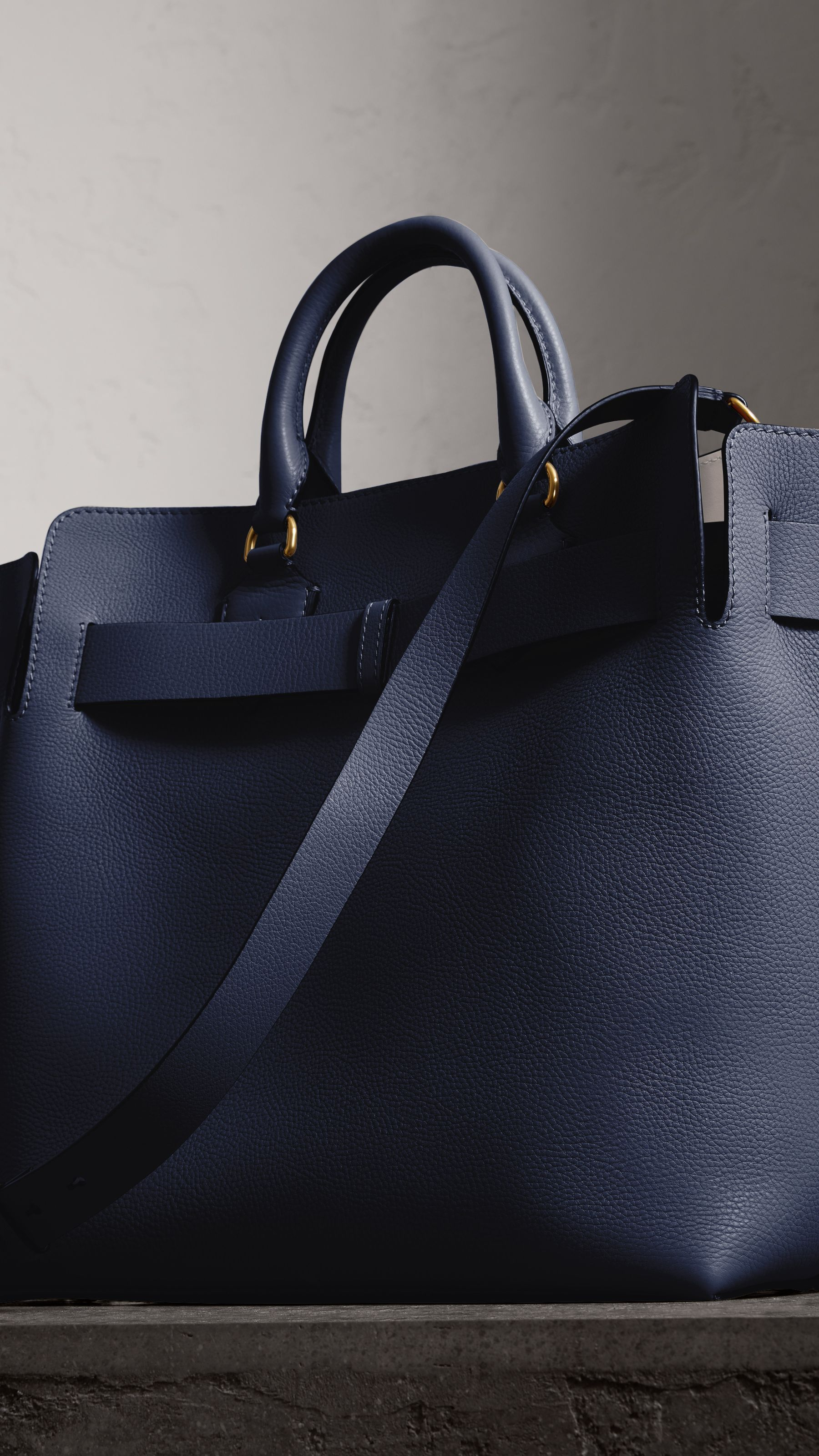 The Large Leather Belt Bag in Regency Blue   Burberry United States ... 2b5f2b03770