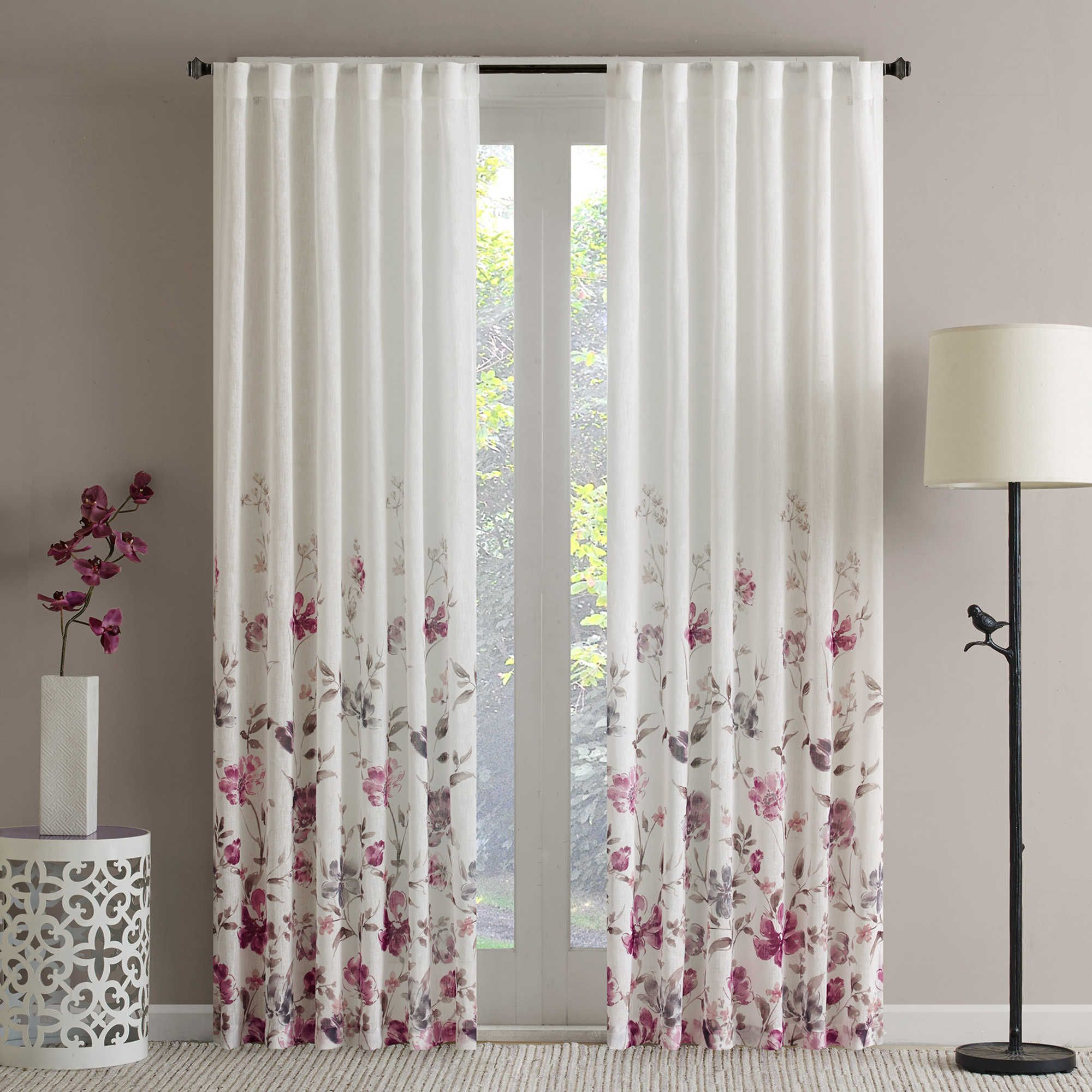 Regency Heights Isla Floral Sheer 108 Inch Rod