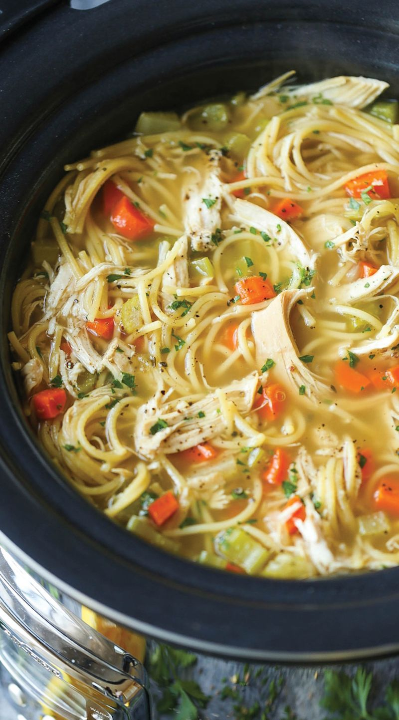 chicken noodle soup in power quickpot / i love my instant pot soups stews and chilis cookbook