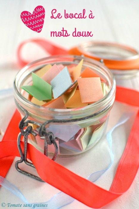 Bocal mots doux du bonheur pinteres - Du bonheur dans la cuisine saint herblain ...