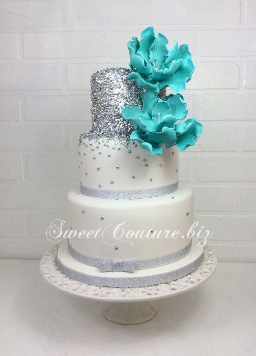 Gateau Mariage glitter argenté | Gâteaux Mariage | Gateau ...