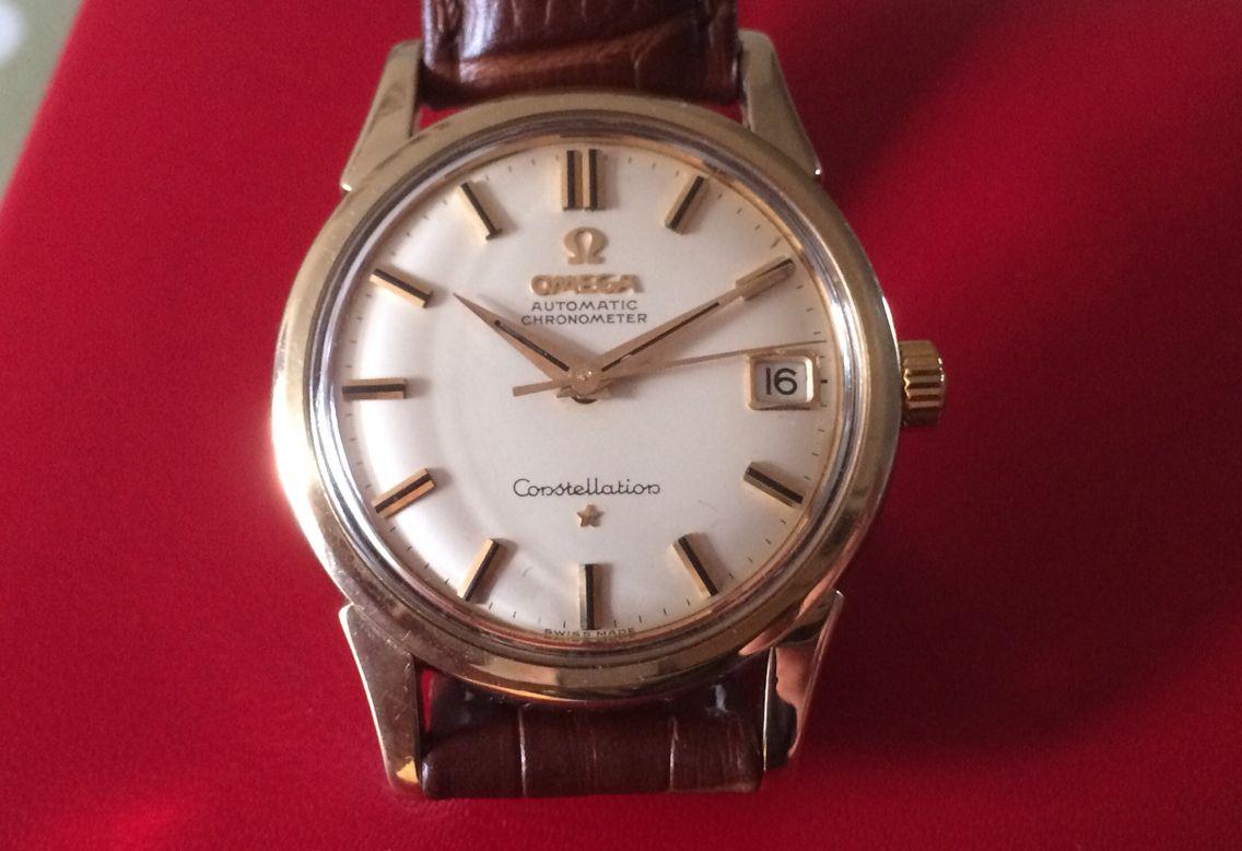 Used Omega Constellation gold cap, automatic, Ref: 14393 10 SC, Calibre :561, £795.