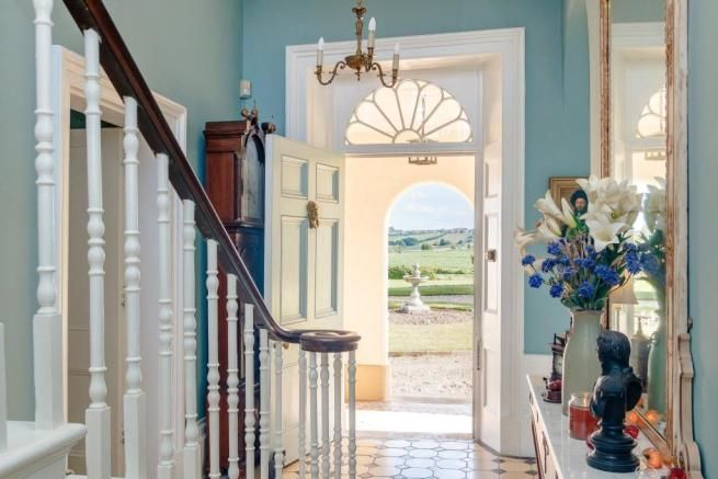 Best Entrance Hall With Lots Of Lovely Georgian Details Fanlight Turned Balustrades Mahogany 400 x 300