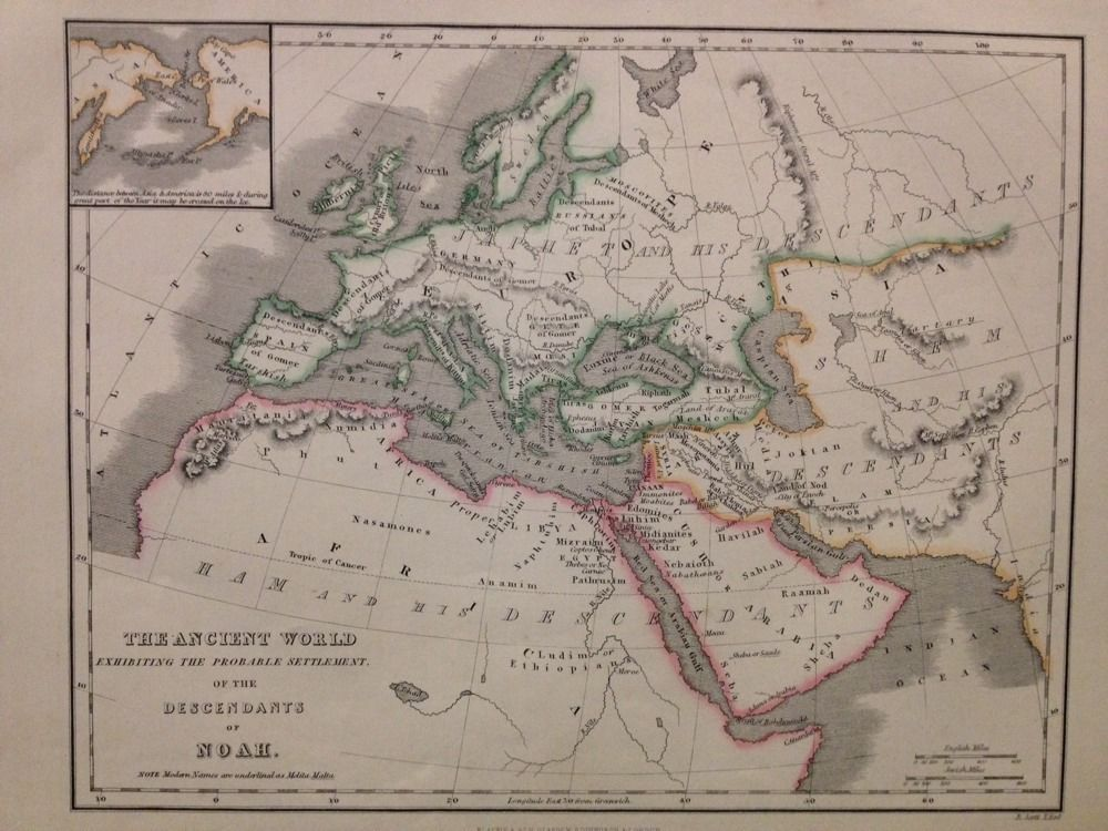 C1852 engraving ancient world map probate settlement descendants of antique world maps atlases ebay gumiabroncs Images