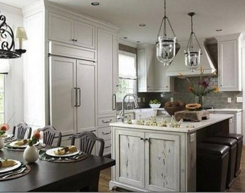 interior design magazine article with headline | Contemporary Dream Creative Small Kitchen Islands with Wood Dining ...