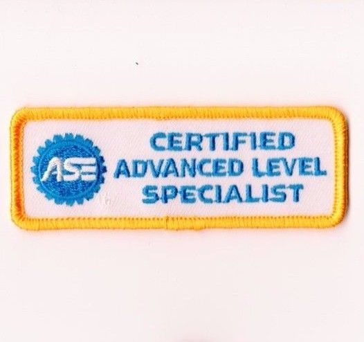 ase patch certified specialist level advanced master mechanic greaser patches