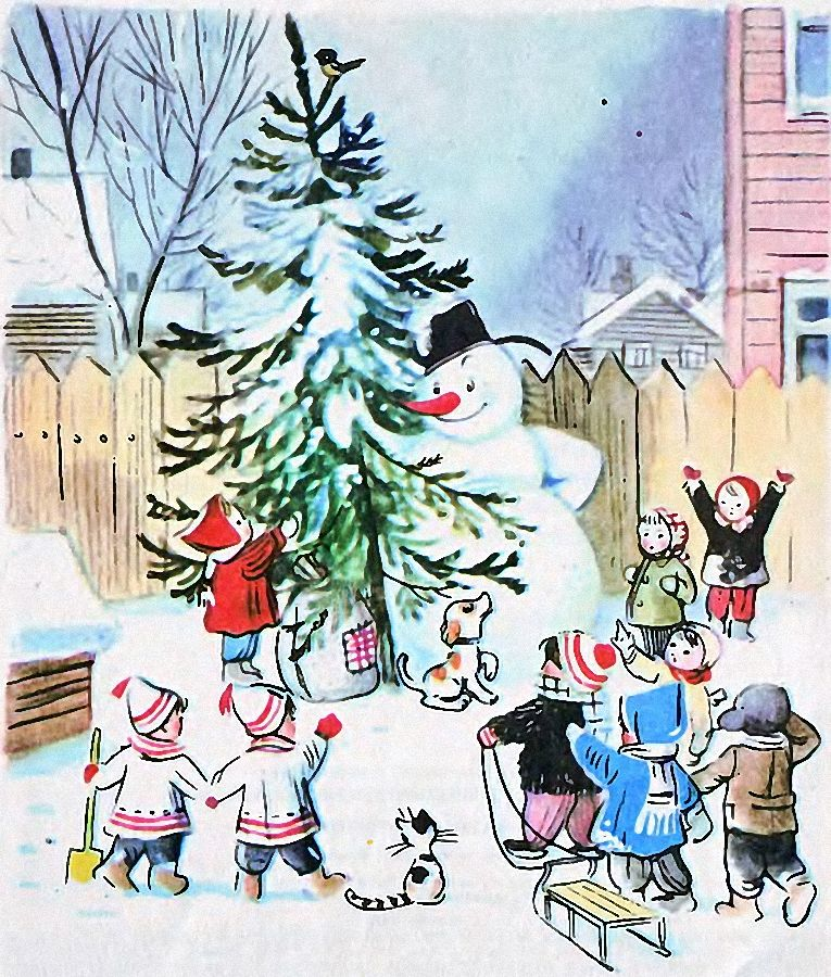 новогодняя картинка снеговик почтовик