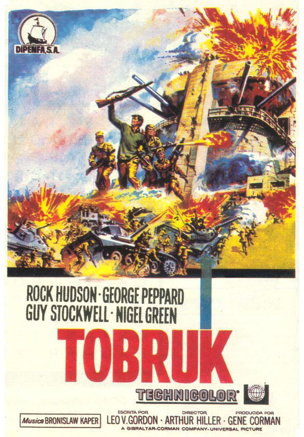 Image result for tobruk poster 1966