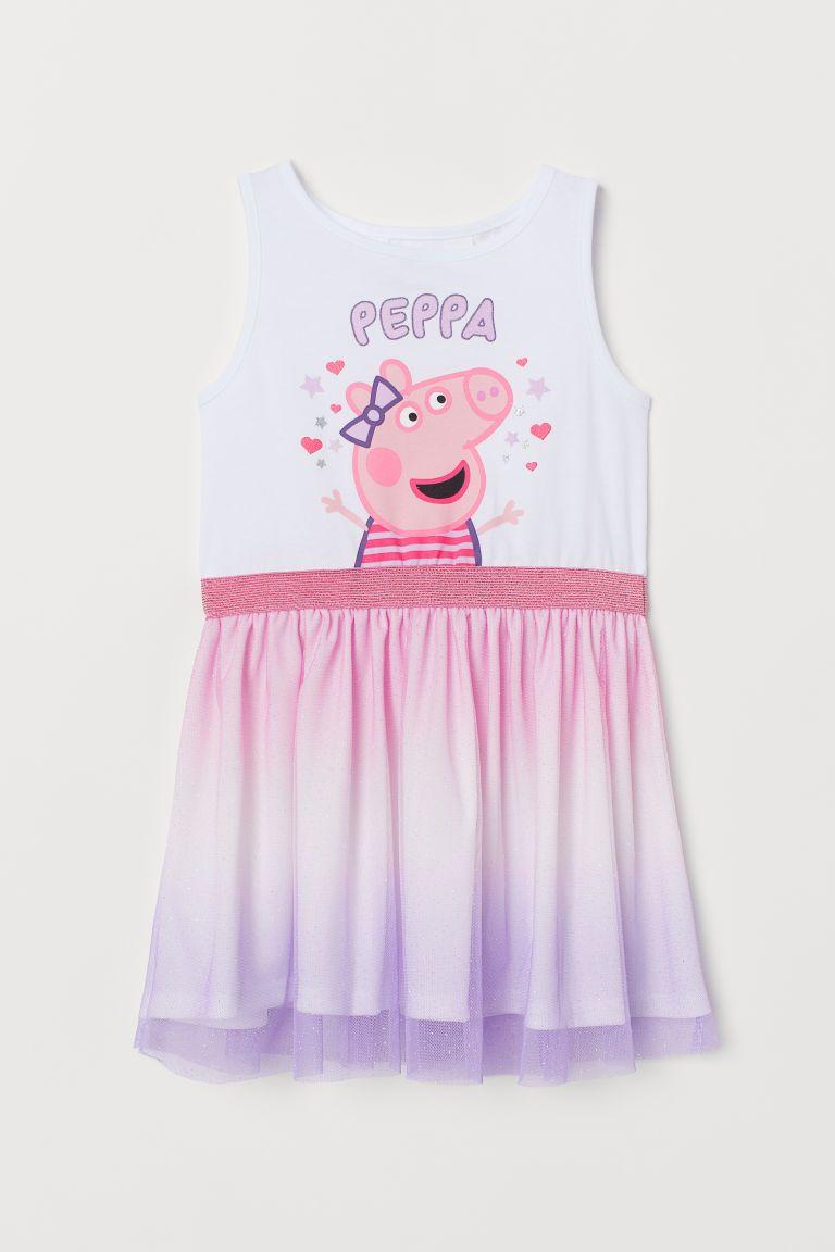 7ab46d6ca8 Tiulowa sukienka z motywem - Biały Świnka Peppa - Dziecko