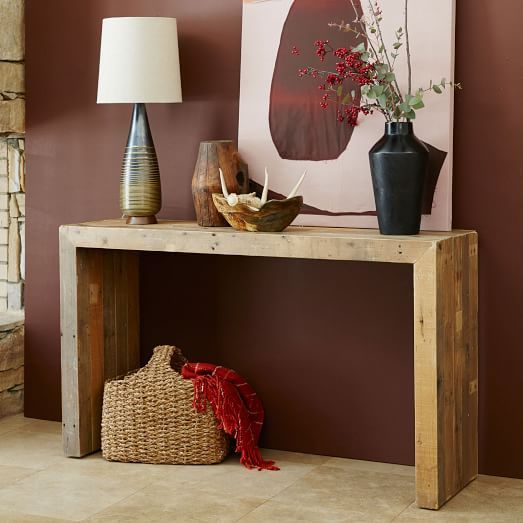 Emmerson 174 Reclaimed Wood Console Natural With Images